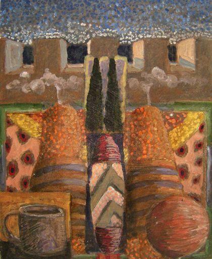 "paintasyoulike:  Jack PortlandI'm Not Through Yet 2010oil on wood panel17.38"" x 15.38""  http://www.laurarusso.com/artists/portland_j.ht..."