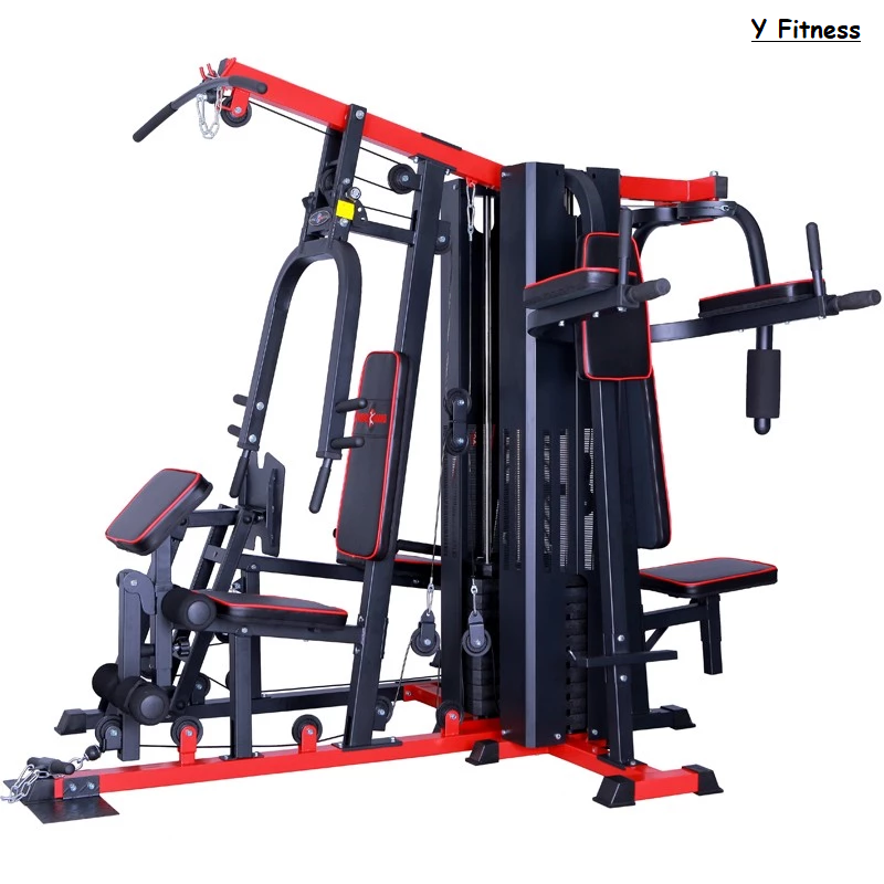 Y Fitness Multi Function Home Gym Exercise Equipment 5 Station Workout Trainer Ebay Home Gym Exercises Gym Exercise Equipment No Equipment Workout