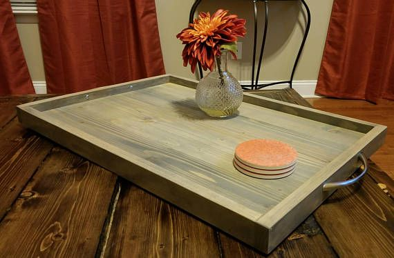 Ottoman Trays Home Decor Stunning Ready To Ship Large Rustic Ottoman Tray  Decorative Tray   Home Design Ideas