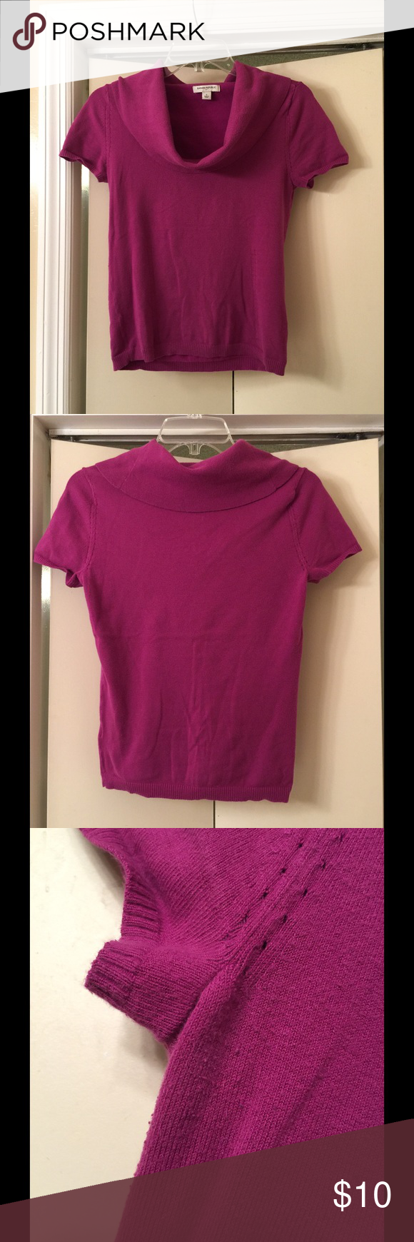 Banana Republic short sleeve cowl neck sweater Banana Republic ...