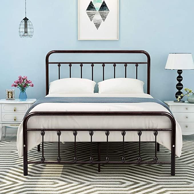 DUMEE Bed Full Size Platform with Vintage