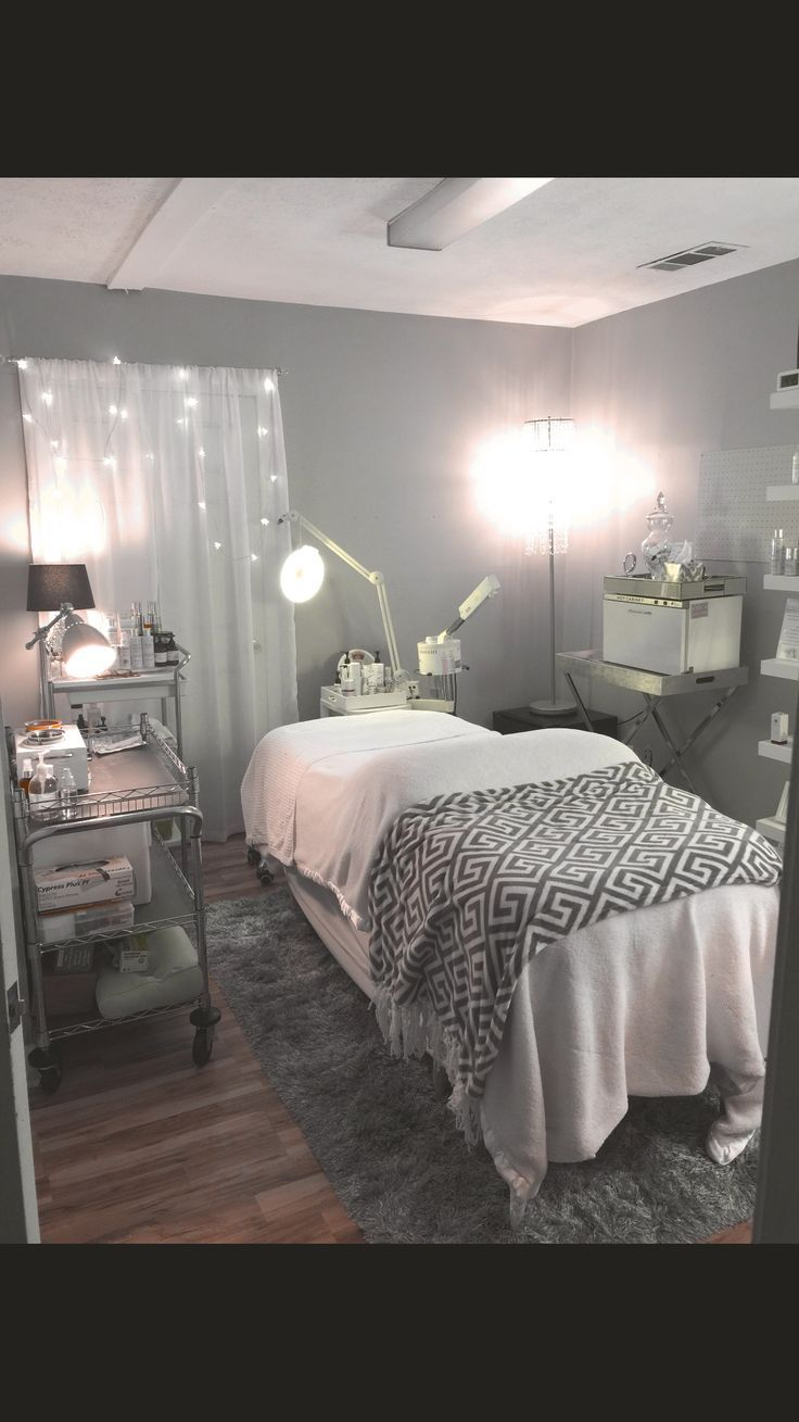 Home Spa Decorating Ideas Part - 43: Treatment Room Spa At Home, Like All But The Drab Colors.
