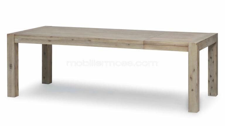 Table A Rallonge Rectangulaire En Bois Natae Mobilier Moss Table De Salle A Manger Bois Table Salle A Manger Salle A Manger Bois
