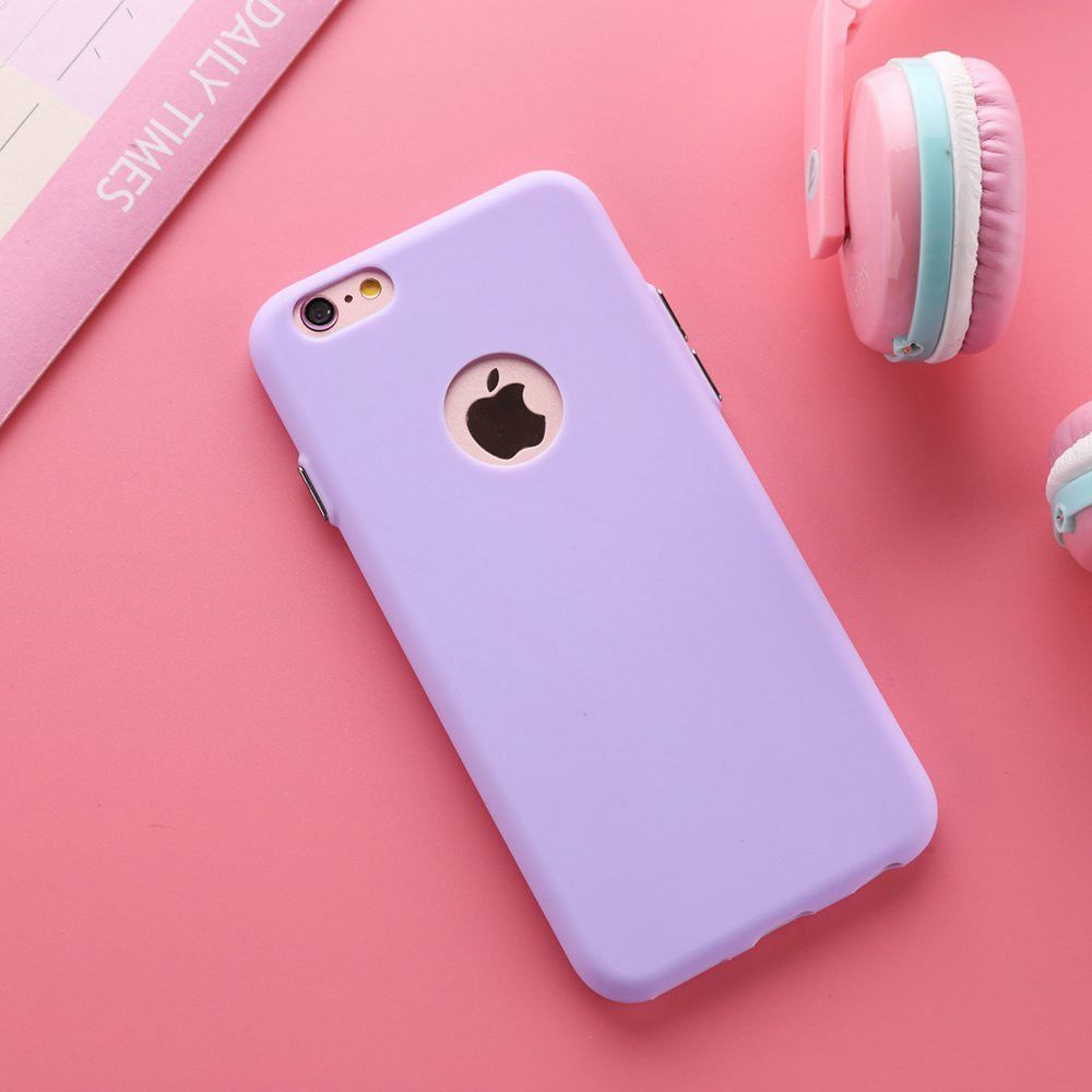 Buy Solid Candy Color Matte Skin Case for iPhone 6S TPU Rubber Soft ...