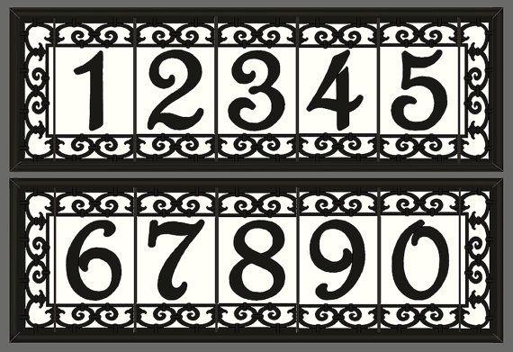 House Numbers Framed Set Address