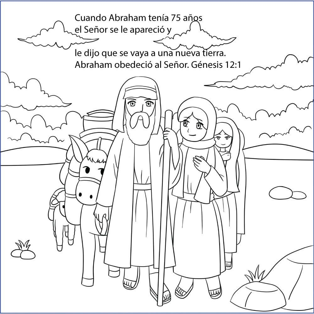 Abraham And Sara A New Home Bible Coloring Page Free Download