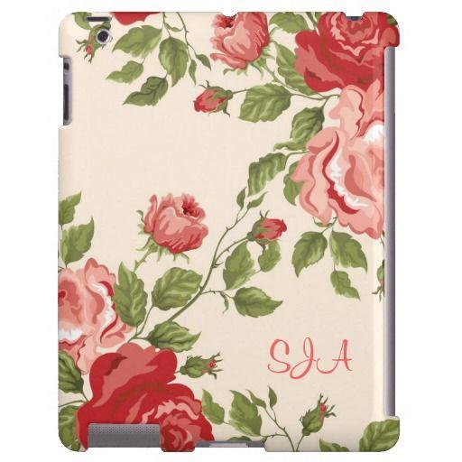 Old-Fashioned Roses Design iPad Case
