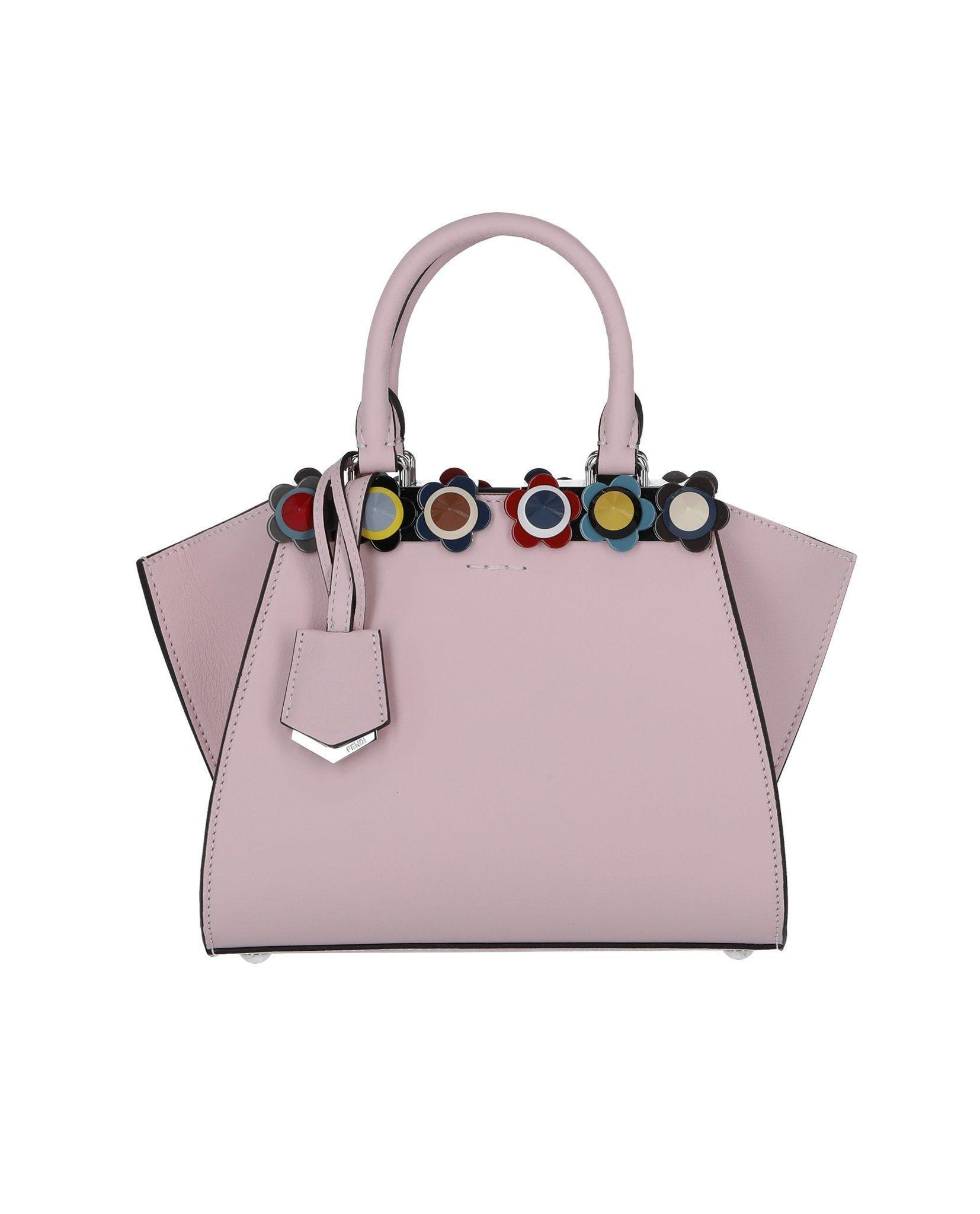 339d96da9b96 Fendi Mini 3Jours Floral Stud Bag