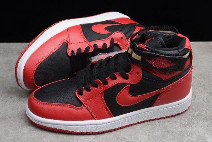 "a6e6b953119 New Air Jordan 1 High Strap ""Bred"" Black Gym Red-White 342132-002 in ..."