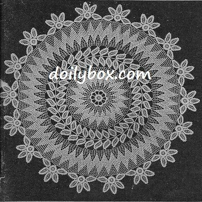 Free Vintage Crochet Wreath Doily Pattern | Crochet doilies and lace ...