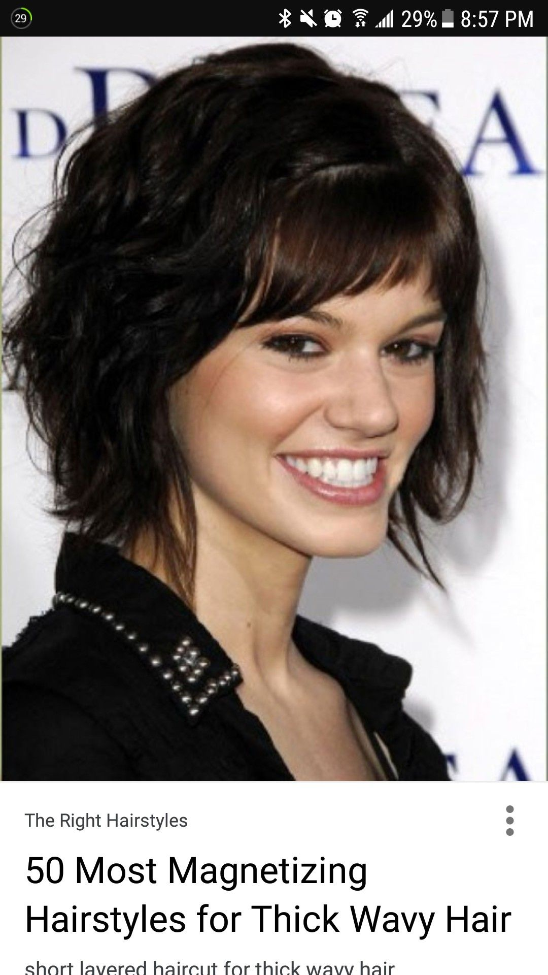 Pin By Laura Hoops On Hair Thick Wavy Hair Woman Thicker Hair Short Hairstyles For Thick Hair
