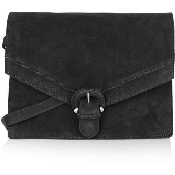 TOPSHOP Suede '70s Satchel ($90) via Polyvore featuring bags, handbags, black, satchel purse, black purse, satchel handbags, black suede handbag and suede handbags