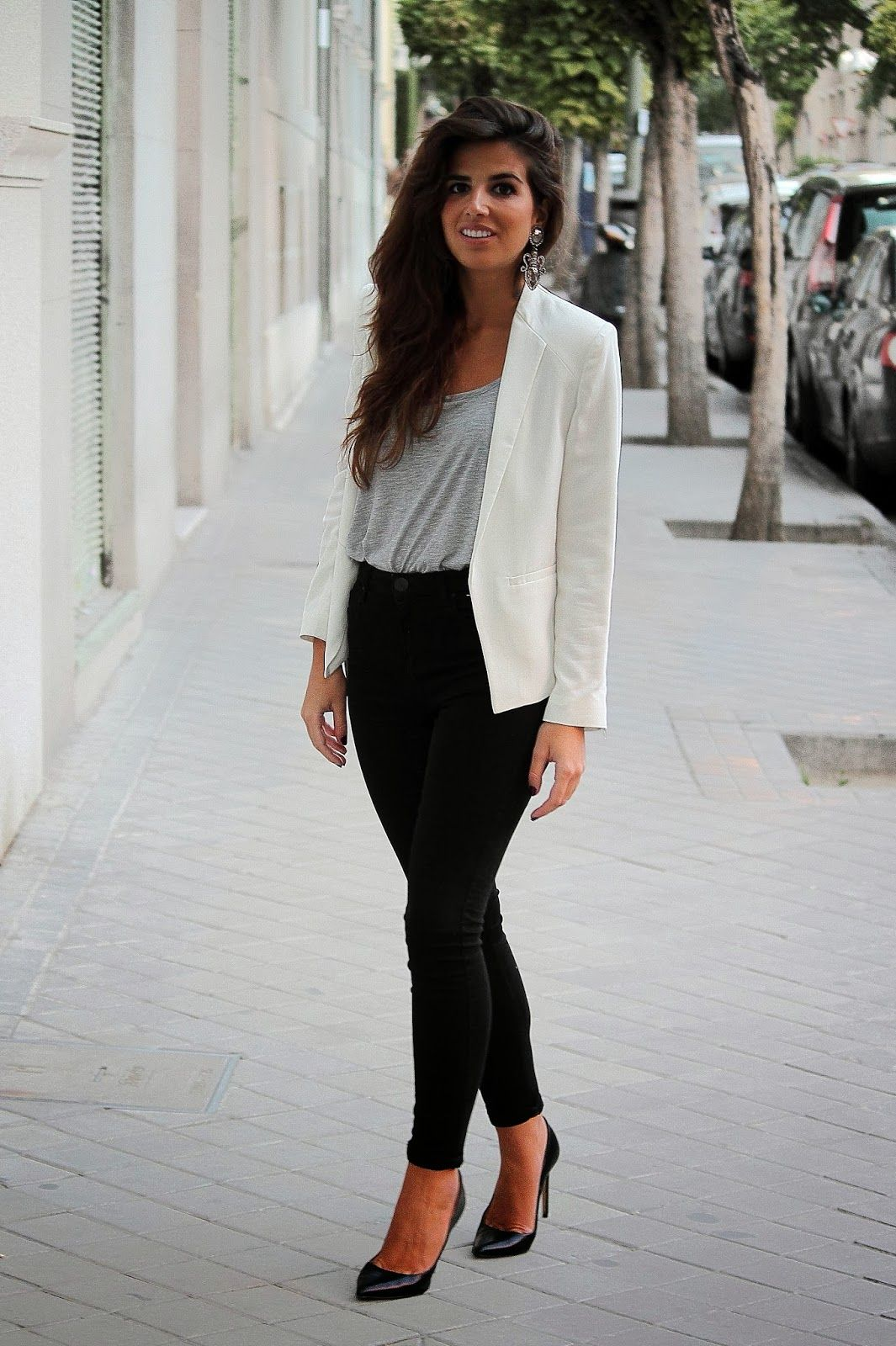 White Business Casual Dress