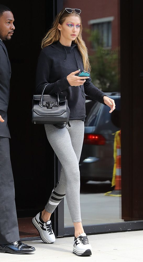 d769e1faf6 Just Can t Get Enough  Gigi Hadid and Her Versace Palazzo Empire Bag ...