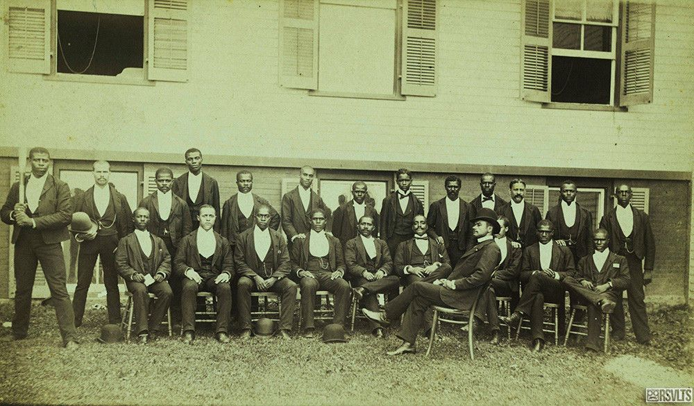 """The Cuban Giants, America's First African American Sports Team(1880) The Cuban Giants were the first African-American professional baseball club. The team was originally formed in 1885 at the Argyle Hotel, a summer resort in Babylon, New York,was so skilled that theyachieved victory over many of the nearby amateur """"white"""" teams. This photo was taken after their exhibition game against theDanbury Alerts."""