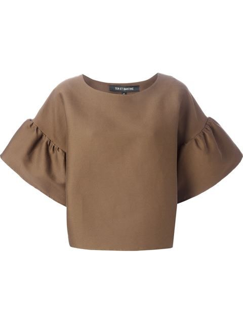 bb388bcf46dfe Ter Et Bantine Bell Sleeve Top - Dolci Trame - Farfetch.com