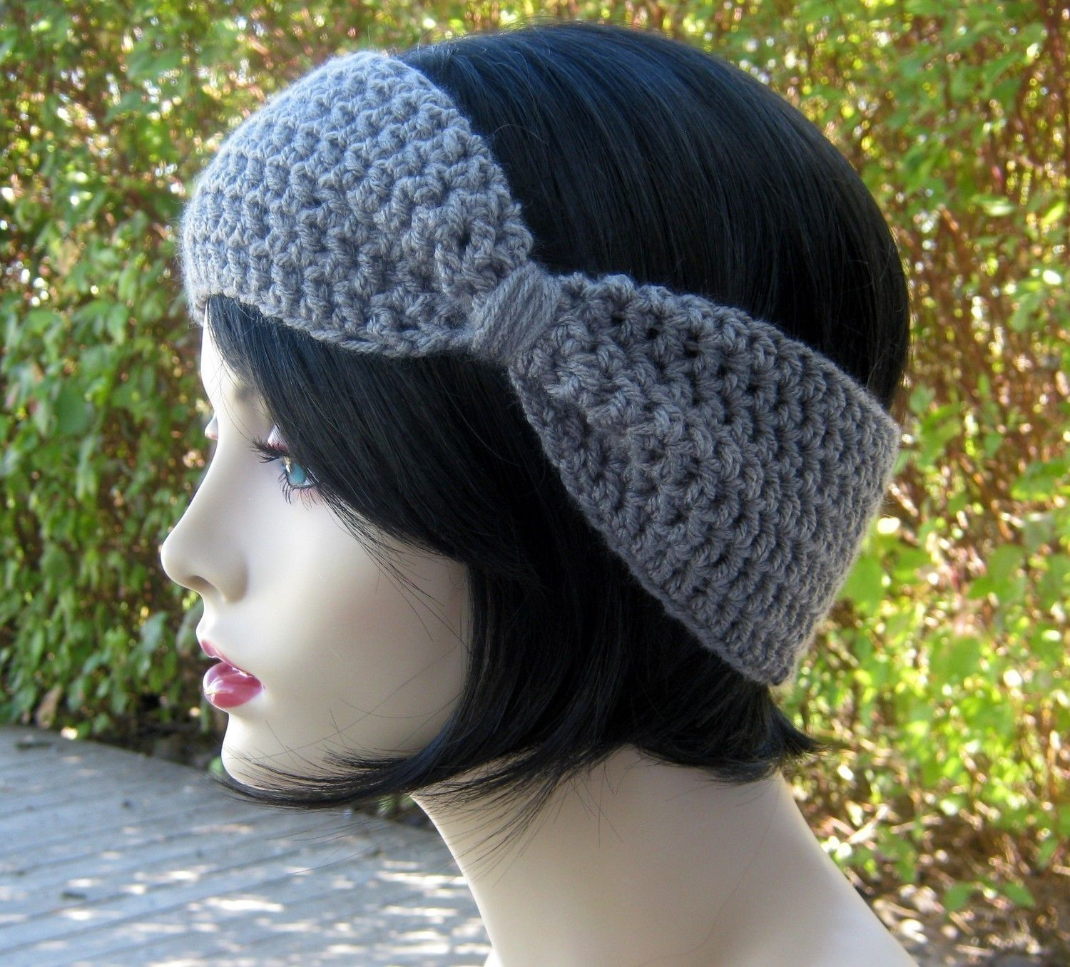 Flapper Style Bow headband/earwarmer | must learn how to make this ...