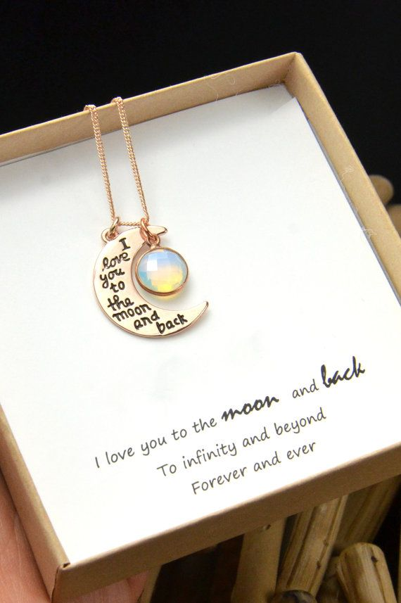 Personalized grandmother grandma mom mothers wife aunt family tree jewelry gifts for her birthstone necklace I love you to the moon and back