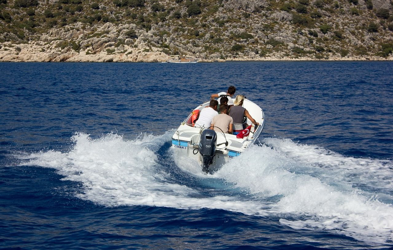 Boat sea boat wave trip boat sea boat wave