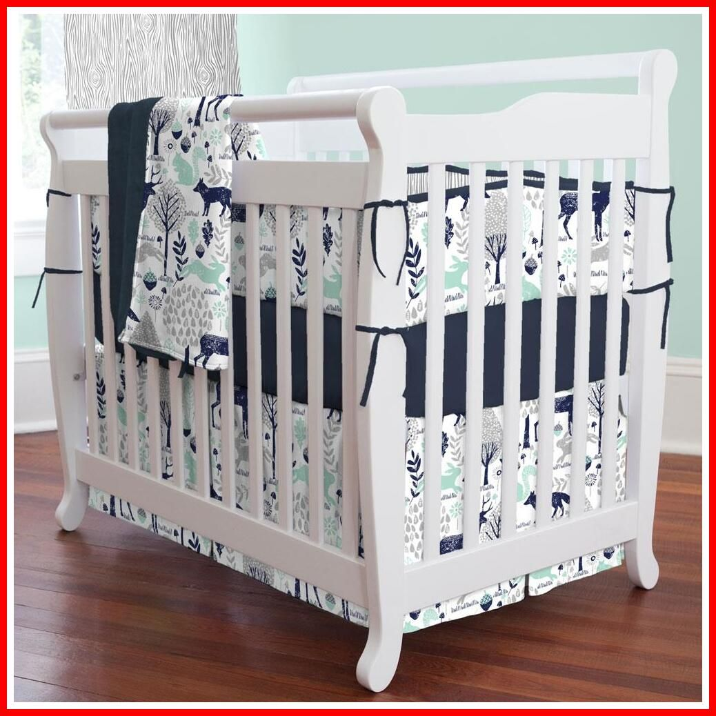 82 Reference Of Mini Crib Bedding Set Woodland In 2020 Portable Crib Bedding Mini Crib Bedding Mini Crib