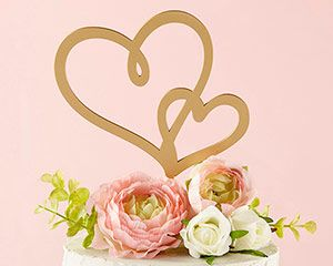Gold Double Heart Cake Topper The Aspen S