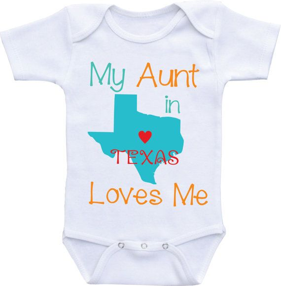 45168ccaa Aunt Onesies- My Aunt Loves Me Onesie from Different State Aunt baby shirt  / Auntie shirt/I love my Aunt for baby boy or baby girl