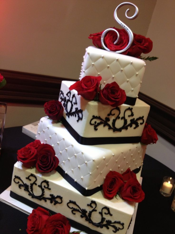 wedding cakes red black and white and wedding cakes white and 25346