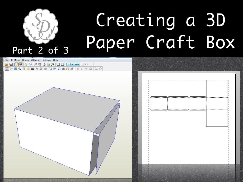 Creating a paper craft 3d box part 2 of 3 pepakura cricut creating a paper craft 3d box part 2 of 3 pepakura jeuxipadfo Gallery