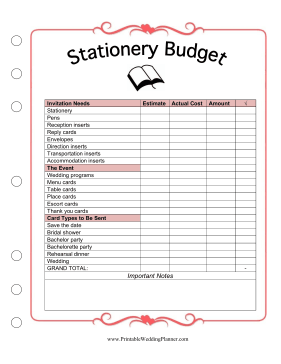 stationery might not seem like the biggest expense when planning a