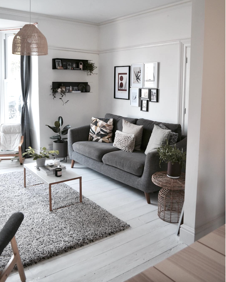 A Simple Relaxed Happy Family Home With Scandinavian Touches Living Room White Living Room Grey Simple Living Room