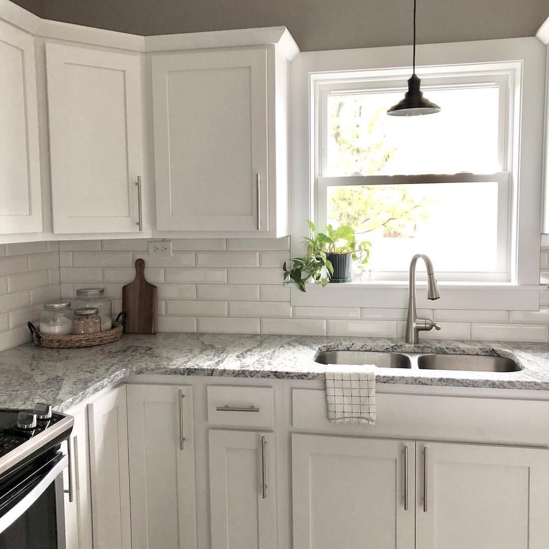 A Simple White Kitchen Is My Love Language Craftsman Kitchen Cabinets New Kitchen Cabinets Kitchen Cabinets