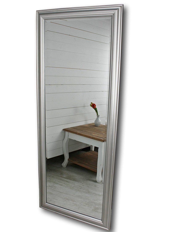 Elbmobel Wandspiegel Gross In Silber Mit Schlichtem Holz Rahmen 150 X 60cm Amazon De Kuche Haushalt Spiegel Silber Wandspiegel Haus Deko