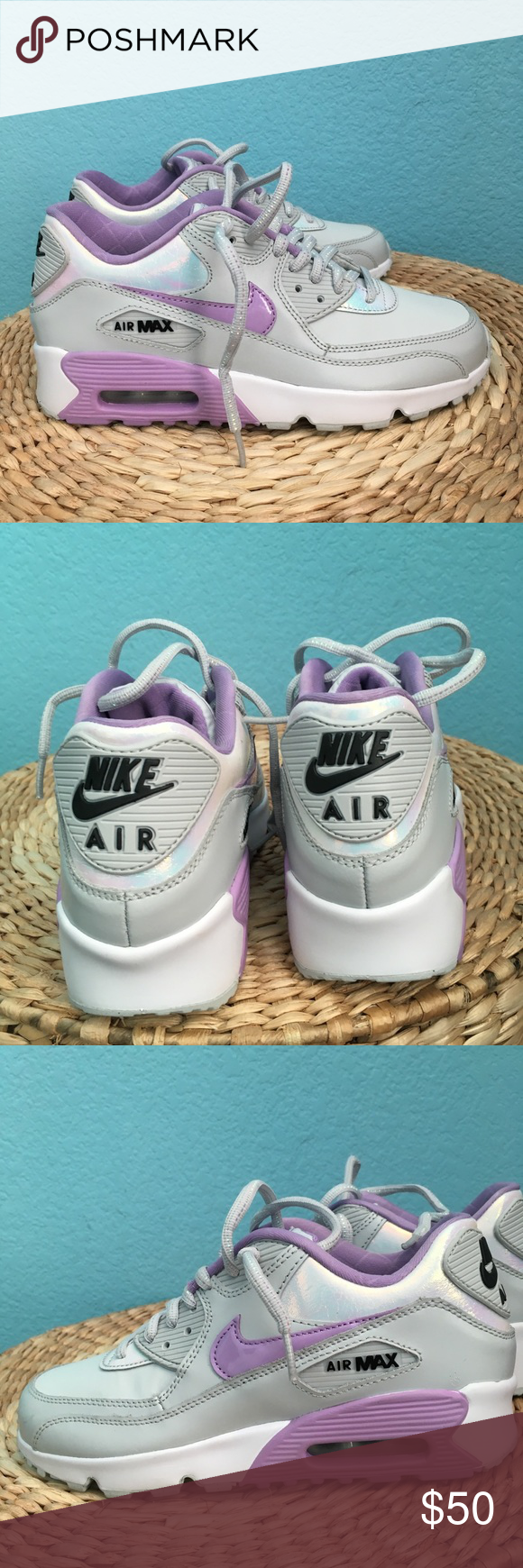 cheap for discount a5a2c 11c3c Nike Air Max 90 SE Leather White, purple, unicorn Reference  859633-002