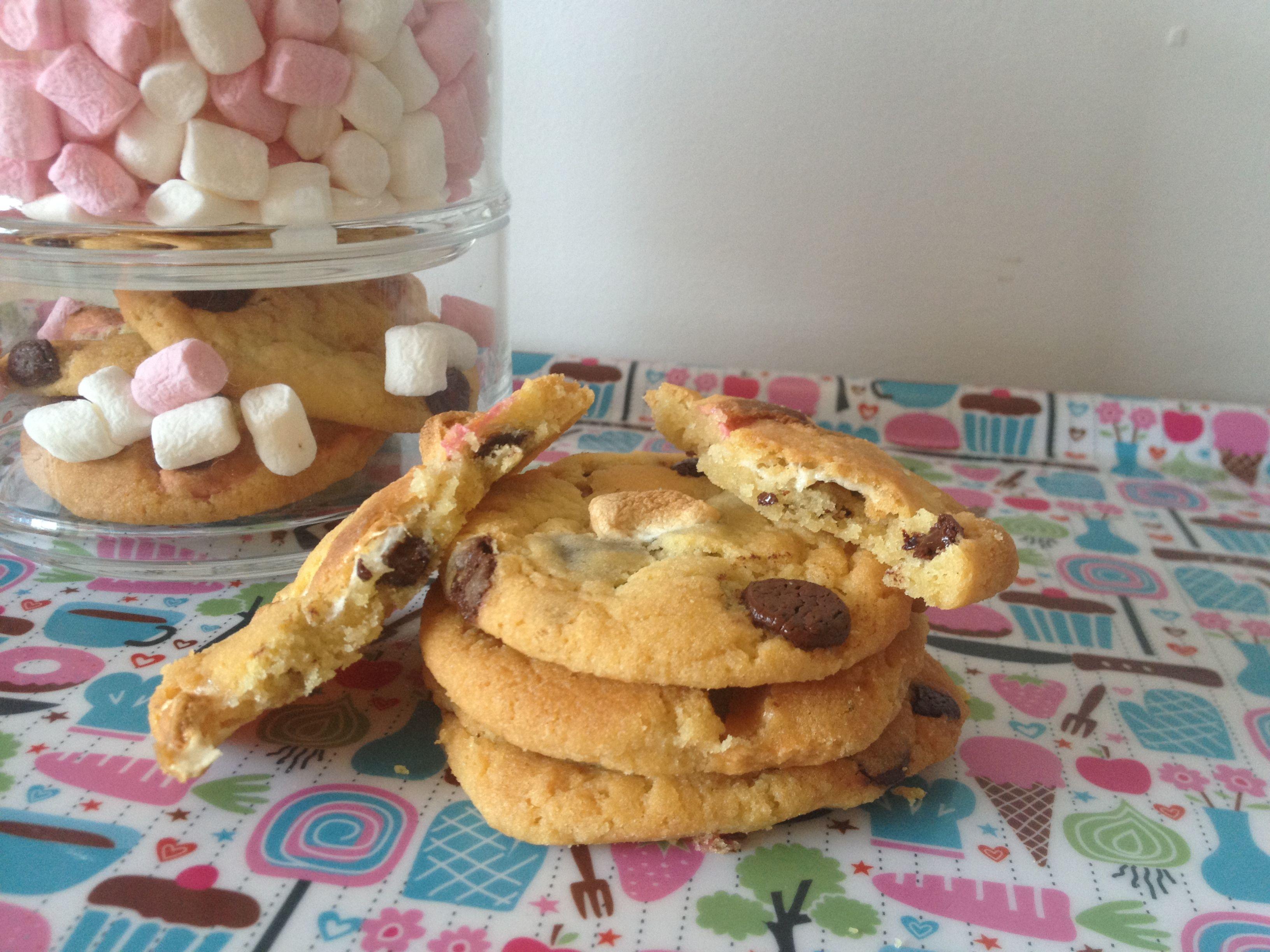 Cookies aux pépites de chocolat et mini marshmallow