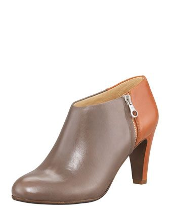 Two-Tone Leather Bootie by See by Chloe at Bergdorf Goodman.