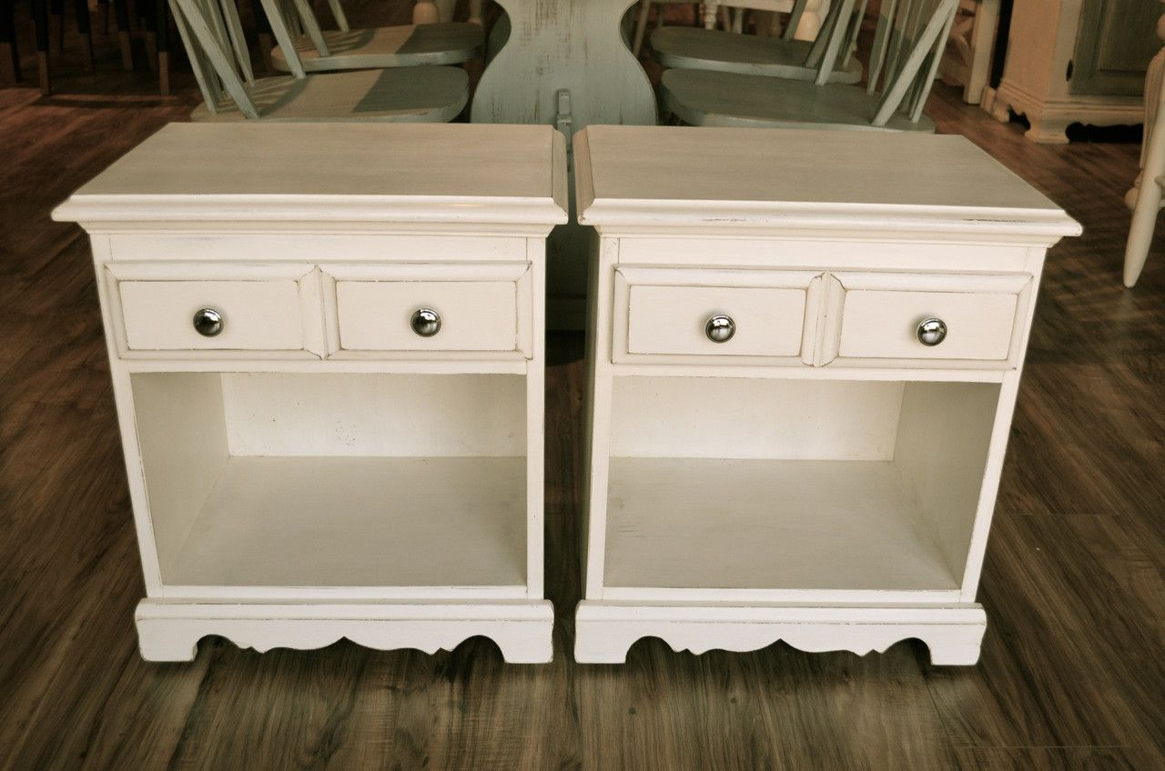 Farmhouse White Nightstands/End tables (With images