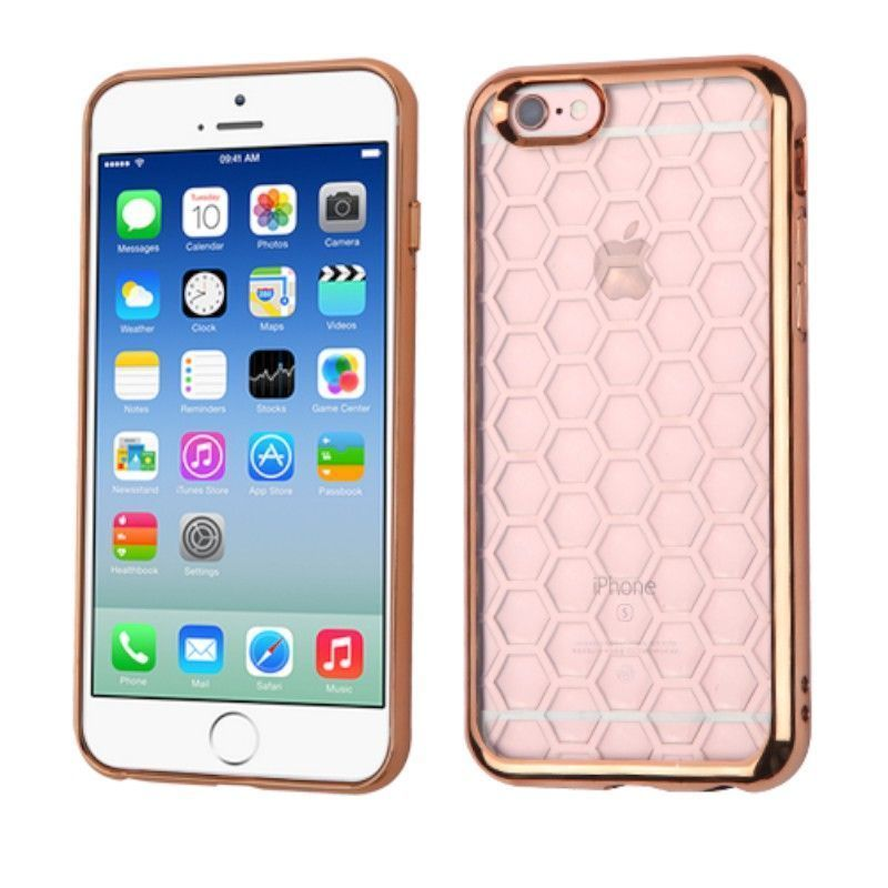 Insten Honeycomb TPU Rubber Candy Skin Case Cover for Apple iPhone 6/ 6s #2189753