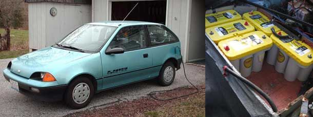 1991 Geo Metro Converted To An Electric Car Electric Car Conversion Electric Car Car