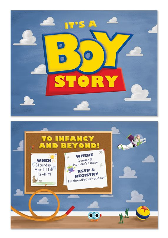 Boy Toys Template : Toy story inspired creative baby shower invitation http