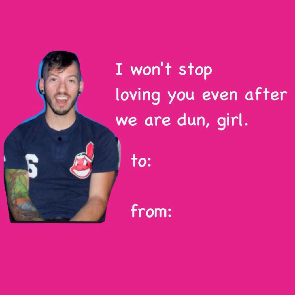 To Sarah From Satan aka Brendon Urie – Icarly Valentine Cards