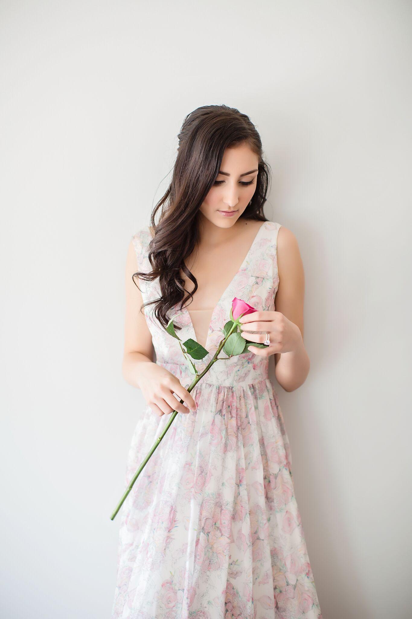 Floral print wedding dresses  Love In Bloom Floral print wedding dress JessicaQPhoto