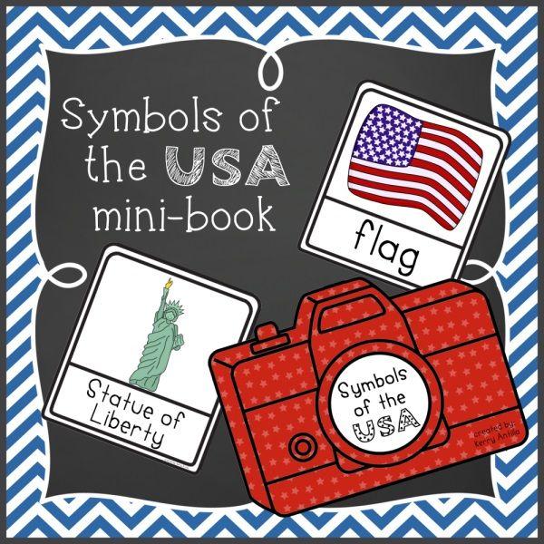 Symbols Of The Usa Mini Book Symbols Social Studies And Teaching