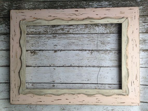 Canvas Open Back Portrait or Art Frame 16x20, Wood Weathered ...