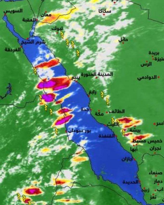 شبكة أجواء السحب و الخلايا الماطرة على السعودية و الأردن و مصر و السودان G S Chasers Instagram Posts Instagram Map Screenshot