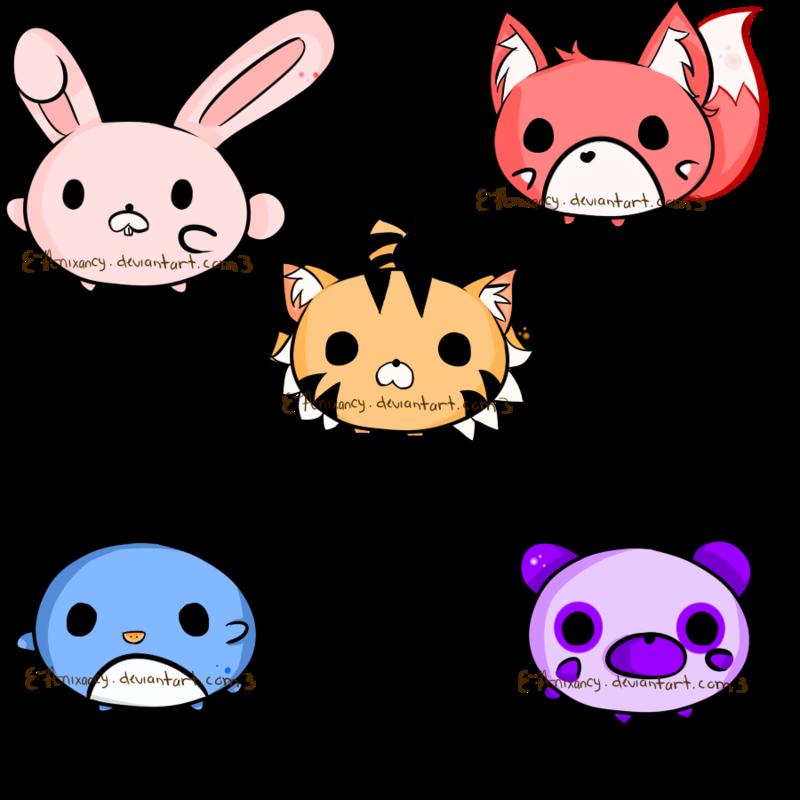 cute stuff animals chibi | Chibi Animal Adoptables Batch ...