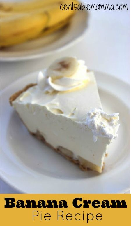 Banana Cream Pie #bananapie