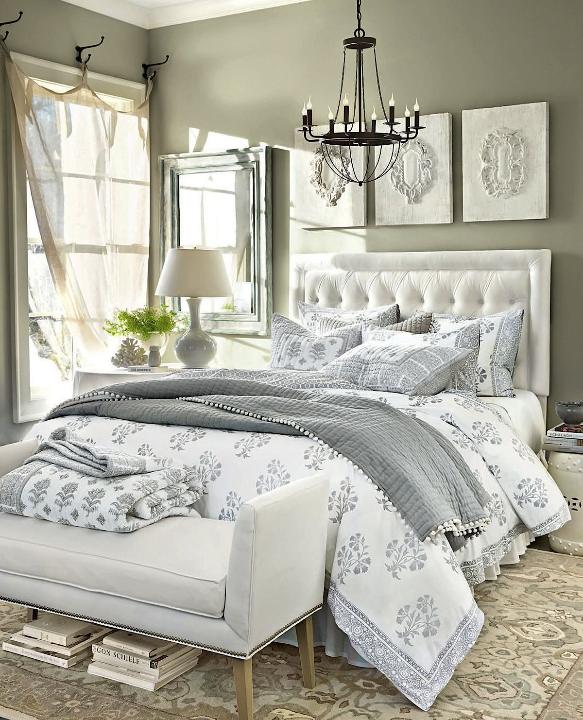 Bedroom Decorating Ideas   Photo Gallery by Ballard Designs. Bedrooms   White bedroom decor  Bedrooms and Gray