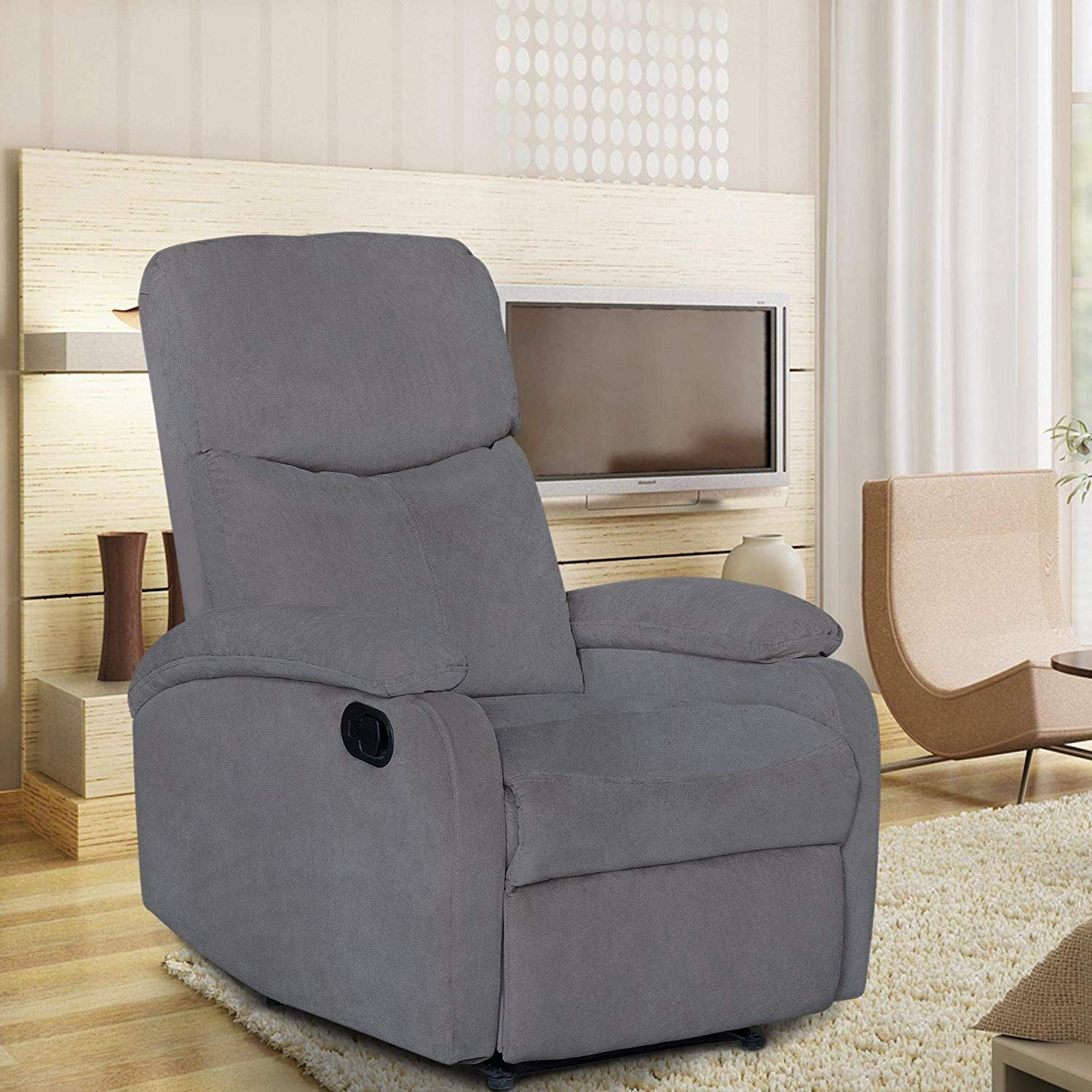 Windaze Manual Recliner Chair Single Living Room Office Sofa High