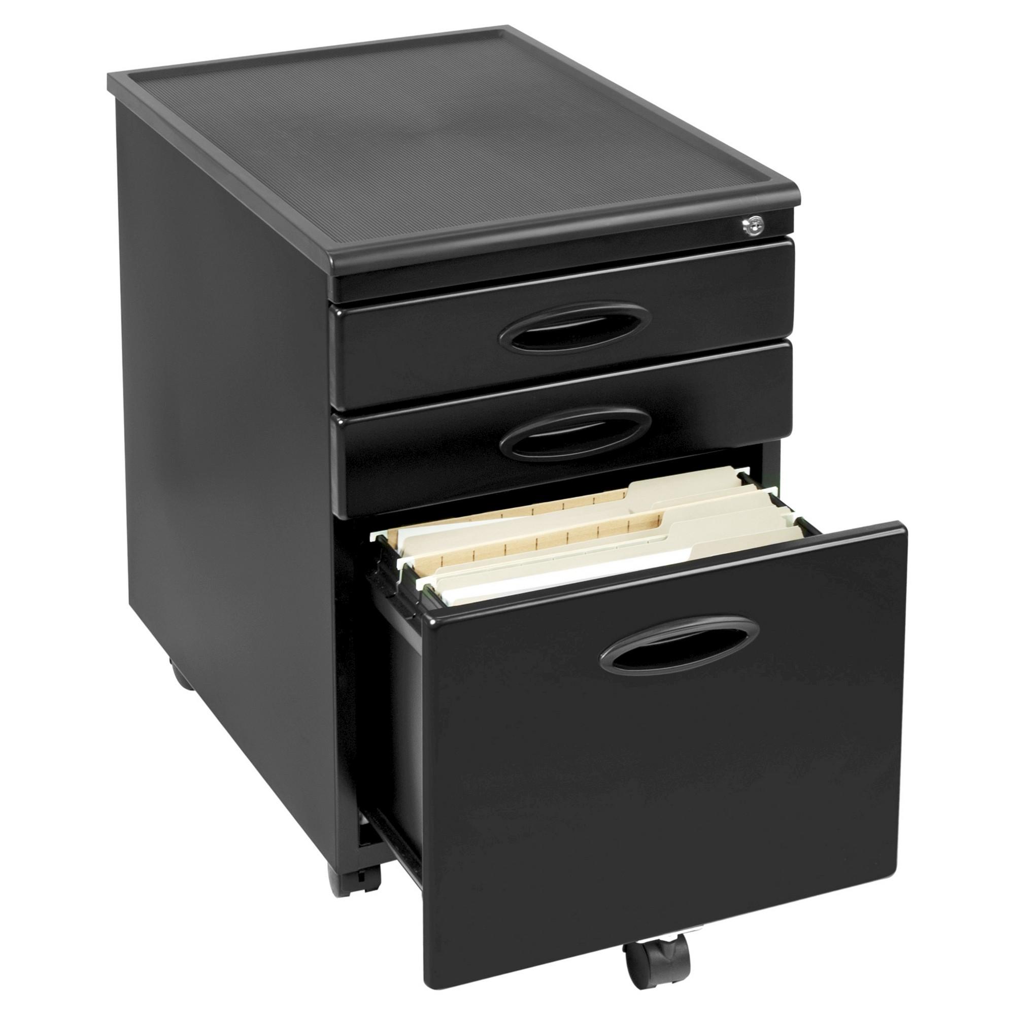 Mobile File Cabinet W Locking Drawers Black Mobile File Cabinet Filing Cabinet Office Furniture File Cabinets