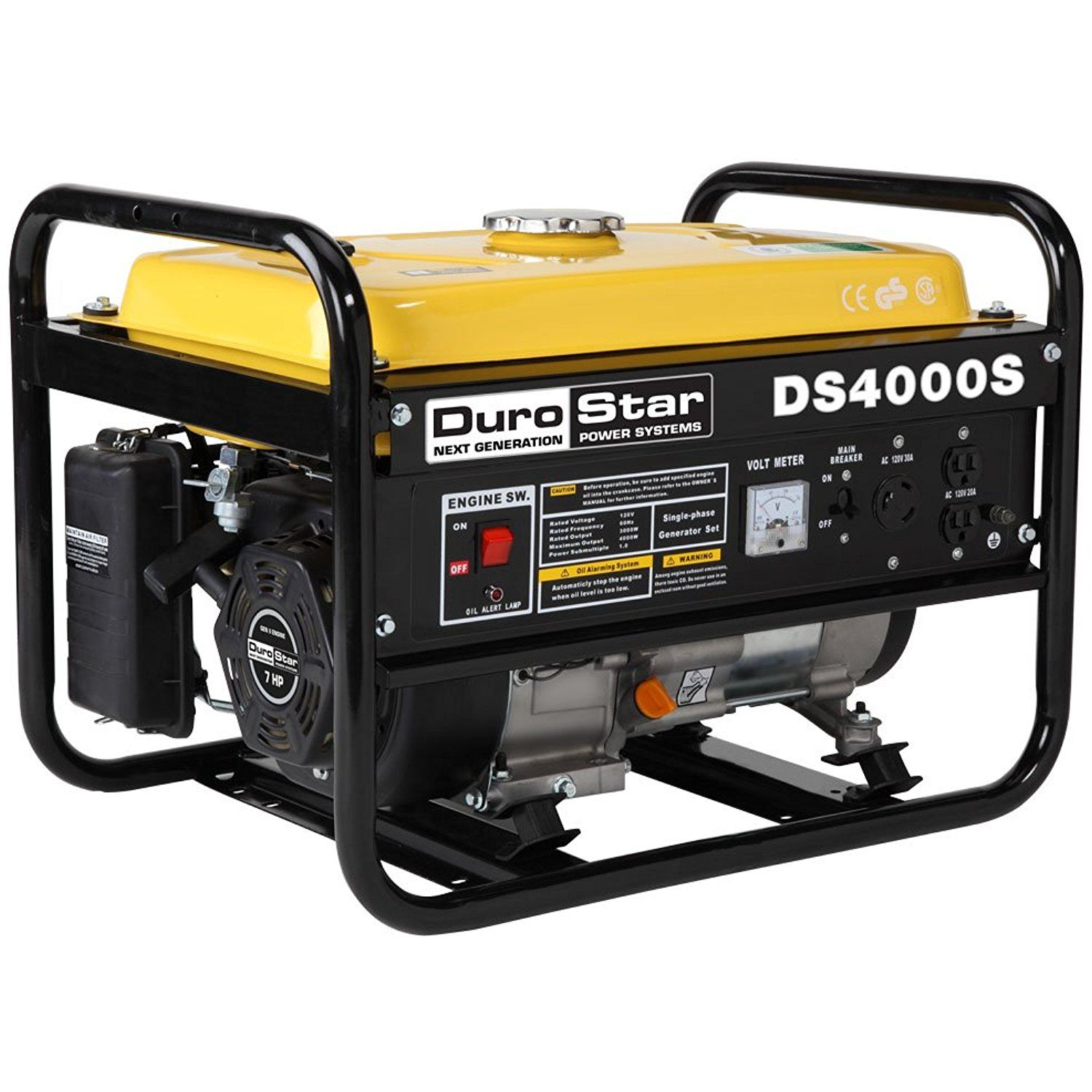 DuroStar DS4000S 3300 Running Watts 4000 Starting Watts Gas